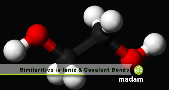 Similarities in ionic and covalent bonds
