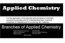 what is applied chemistry